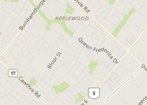 Applewood Mississauga Neighbourhood Review Map