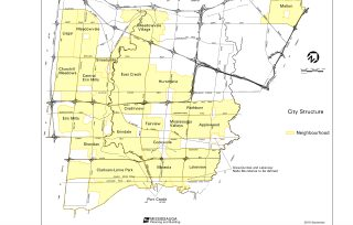 Erindale Mississauga Neighbourhood Review Map