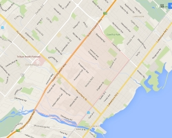Mineola Mississauga Neighbourhood Review Map
