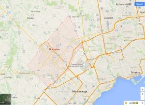 Brampton City and Neighbourhoods Review Map