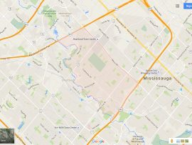 East Credit Mississauga Neighbourhood Review Map