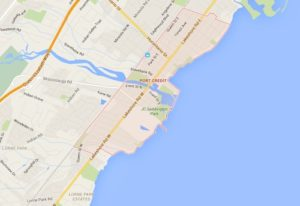 Port Credit Mississauga Neighbourhood Review Map