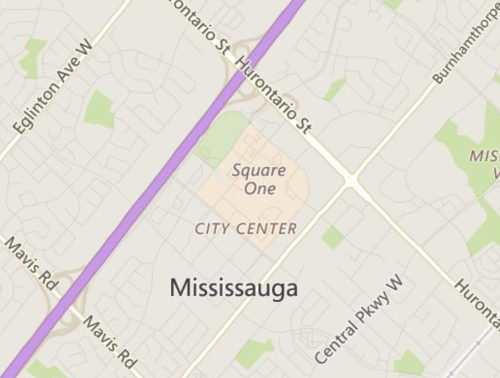 Mississauga City Centre Neighbourhood Review Map