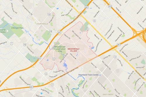 Meadowvale Mississauga Neighbourhood Review Map