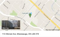 115 Hillcrest Ave Mississauga, map and location of building