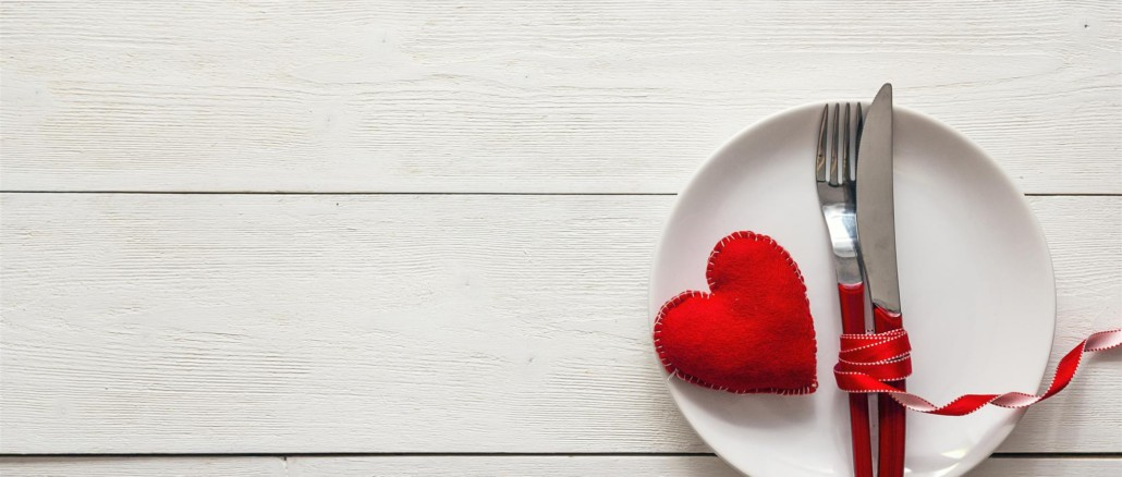 Plate with a heart